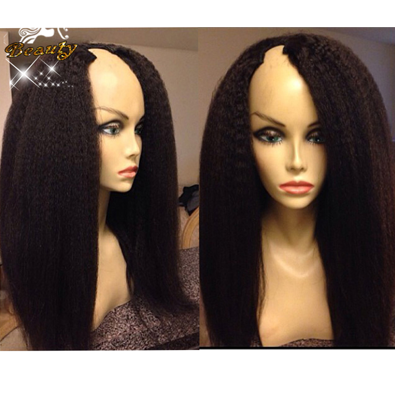 7A Kinky Straight U Part Wigs Unprocessed Brazilian Human Hair Italian Yaki U Part Wigs Afro Kinky Straight Wigs For Black Women<br><br>Aliexpress
