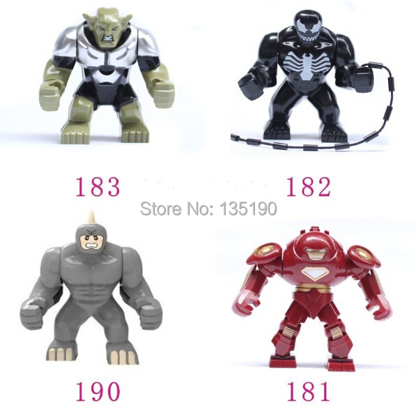 4 Big Venom Lazy Rhino VS Hulk Buster Green Goblin Figures Toys Marvel Building Blocks Action Bricks - dina tang's store