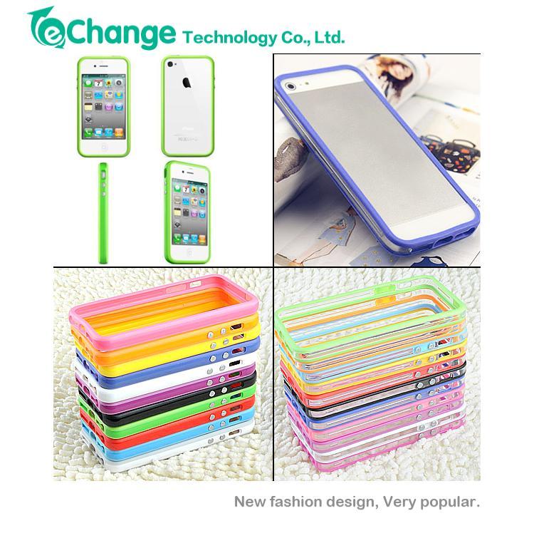 Гаджет  High Quality For iPhone 5 5S Bumper Frame Bumpers TPU Case Silicone Crystal Skin EP1323 None Телефоны и Телекоммуникации