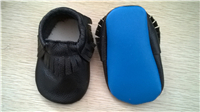 BB 1 pair -sale baby Moccasins Soft Moccs Baby Shoes Newborn Baby firstwalker Anti-slip Genuine Cow Leather BAB 406-BLCK-BLUE(China (Mainland))