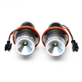 Free shipping 2x 7000K Error Free led Angel Eye Aluminum 10W LED Ring Marker Lights For