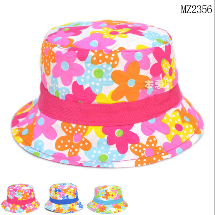 Bucket Hats Flowers Flowers Cotton Bucket Hat