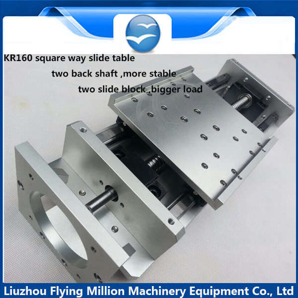 Linear Actuator system Linear Module Table 60mm travel length CNC Guide 1605 Ballscrew Sliding Table(China (Mainland))