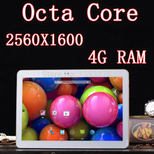 Tablet PC 32GB 10.2 inch 8 core Octa Cores 2560X1600 DDR 4GB ram 8.0MP 3G Dual sim card Wcdma+GSM Tablets PCS Android4.4 7 8 9