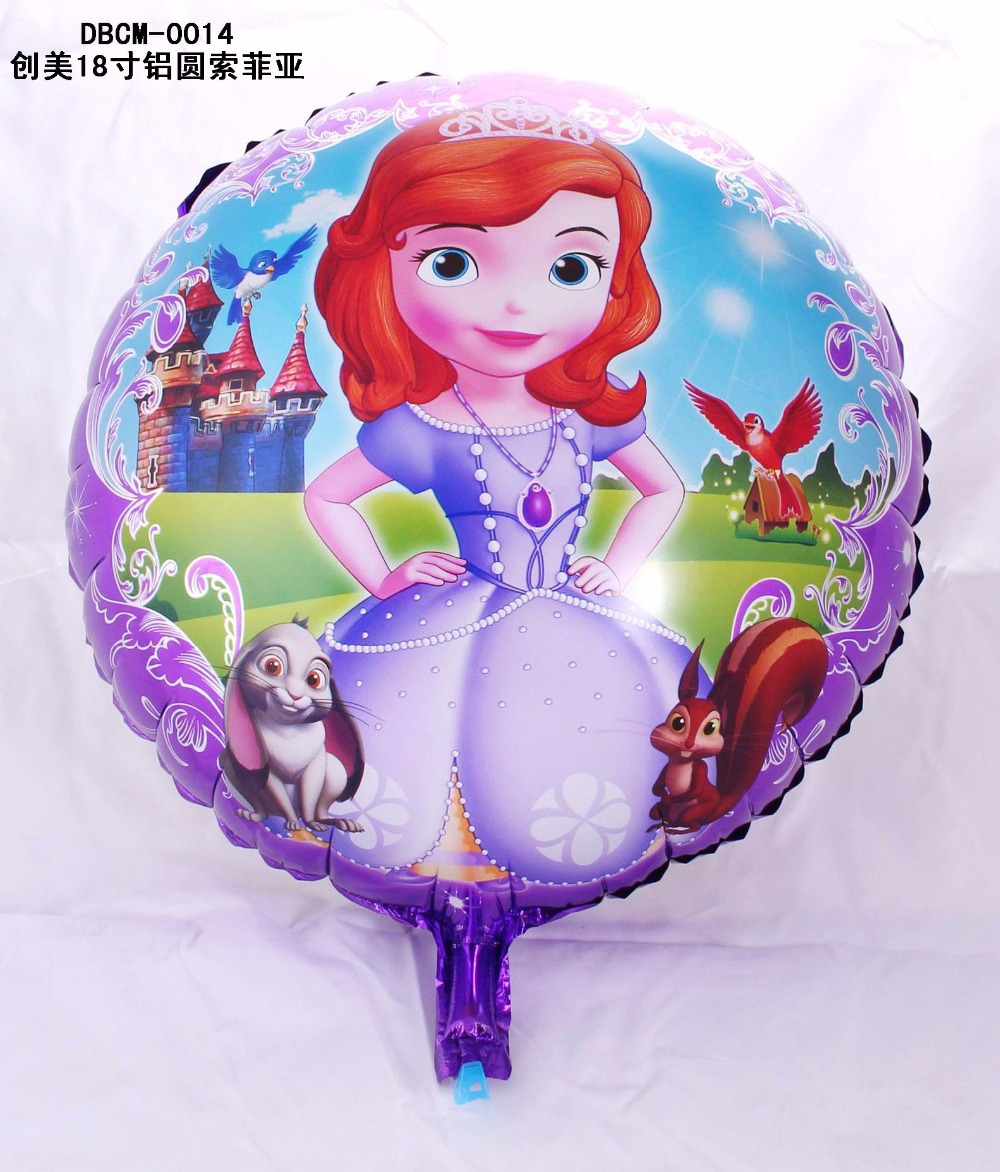 50pcs/lot air baloons Sofia Princess balloon foil sofia the first birthday party decoration helium baloes<br><br>Aliexpress