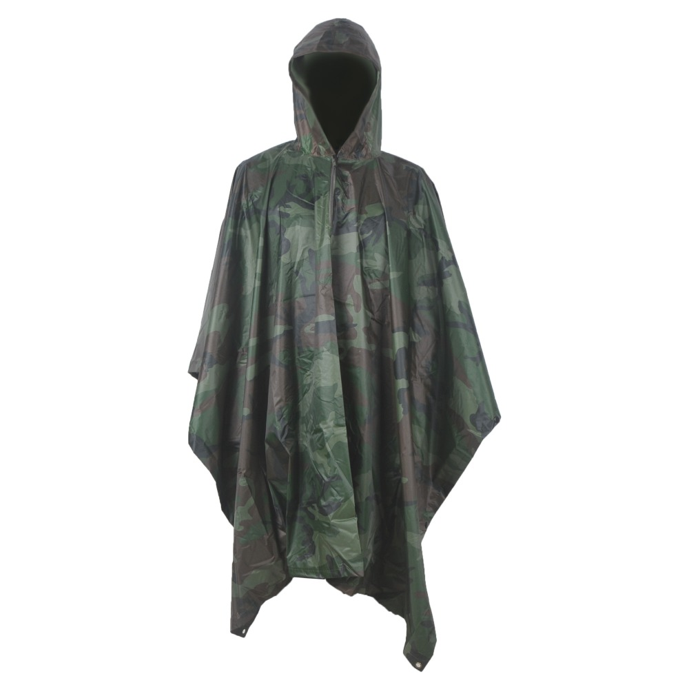 1 X Camouflage Military Raincoat Jungle Multifunctional Poncho Tactical Poncho Multicam Outdoor Rain Poncho Men(China (Mainland))