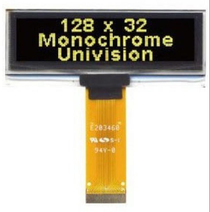 2.23 inch yellow, blue, white OLED luminescent screen 128 * 32 dot matrix OLED screen(China (Mainland))