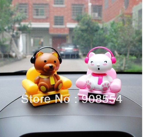 Free Shipping 6Pcs Per Lot Music Cat Swing Under Sunshine No Battery Novelty Happy Dancing Solar Toy Solar Gift(China (Mainland))