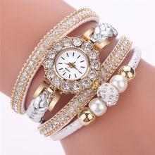 Los mejores relojes nuevos para Mujer Flor Popular reloj de cuarzo relojes de pulsera de lujo para mujer reloj de pulsera de piedras preciosas Bayan Saat # E(China)
