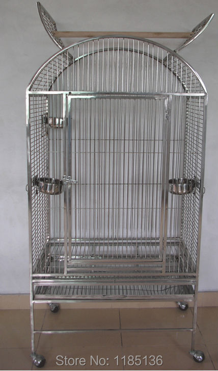 High Quality Stainless Steel Parrot Cage Open Top Bird Cage Amazons Macaws 22''*22''*59'' ST63R(China (Mainland))