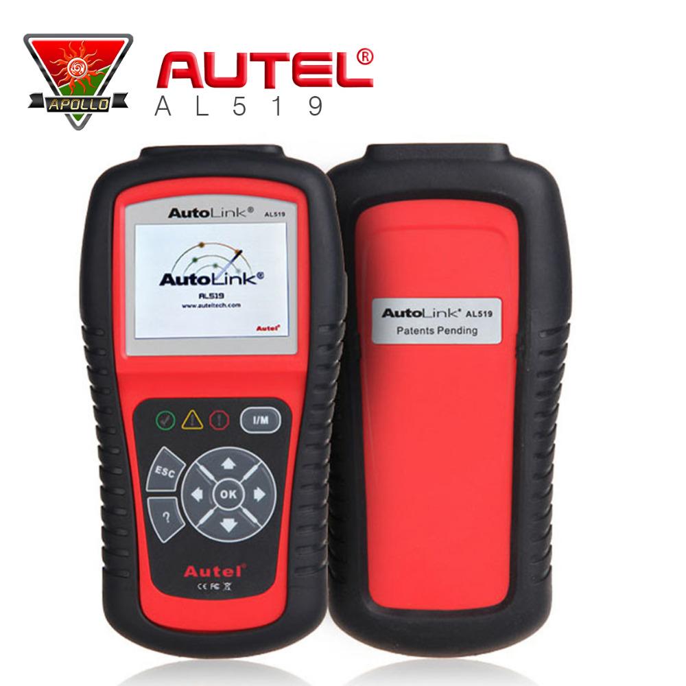 100% original Autel AutoLink AL519 OBDII OBD2 Scanner AutoLink AL519 Can Scan tool Multi-language Free Shipping(China (Mainland))