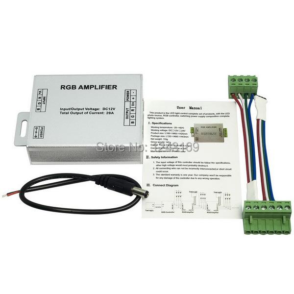 12V 20A RGB SMD 5050 LED Strips Light Signal Amplifier 12V 20A Colorful LD040B(China (Mainland))
