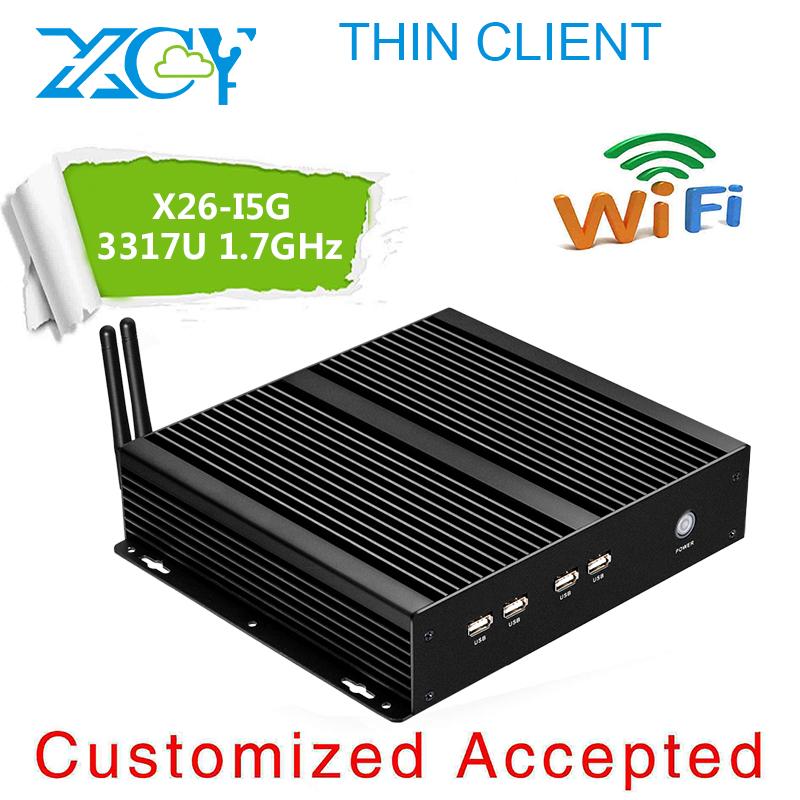 X26-i5G pc mini desktop pc computer i5 3317U cpu 1.7GHz 8G RAM 128G SSD support computer input output devices with hdmi+vga port(China (Mainland))