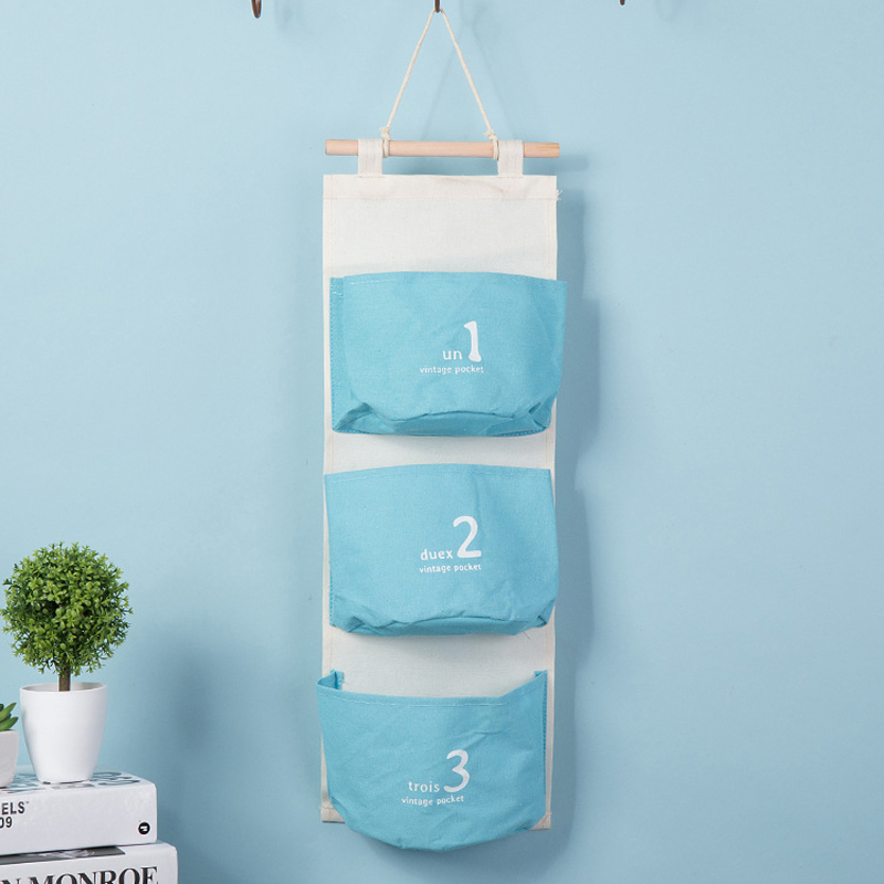 Special offer Wall Mounted 3 pocket Storage Bags bathroom kitchen supplies Fluid Systems Multilayer Pouch(China (Mainland))