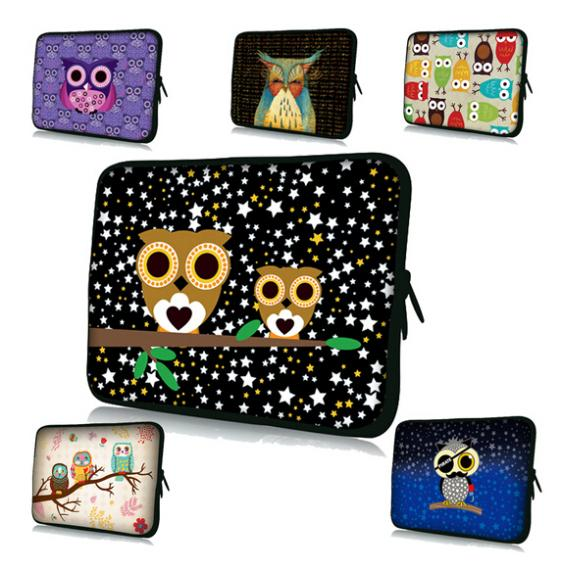 New Computer Accessories Personality Owl Waterproof fabric Neoprene Laptop Bag Cases Notbook Sleeve Cover For 10 Inch Tablet PC(China (Mainland))