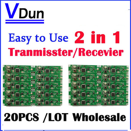 DHL Free shipping 20pcs 2in1 wireless dmx 512 Controller transmitter & receiver PCB module DMX Stage Lighting Controler(China (Mainland))