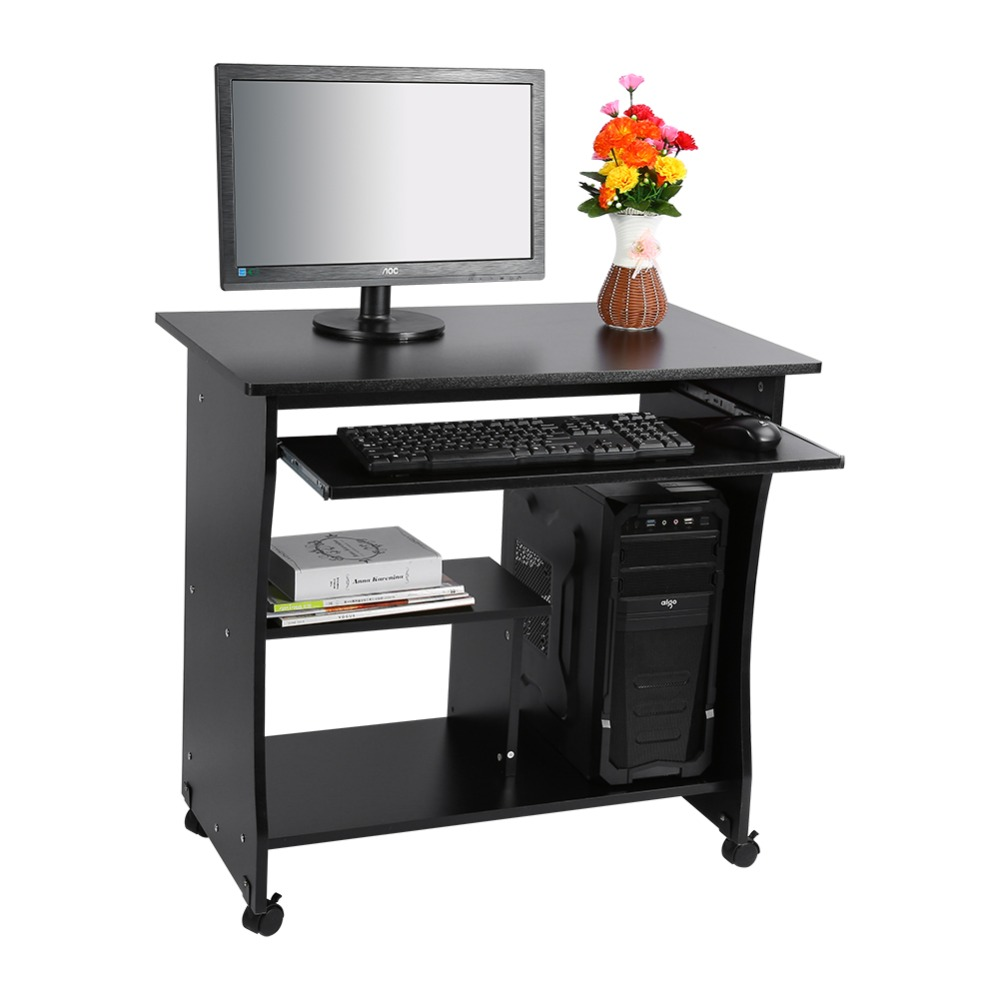 1PC Black Desktop Computer Table PC Laptop Table Office Workstation Computer Table Corner Home Study Office Furniture(China (Mainland))
