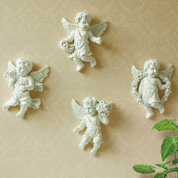 Buy free shipping modern home decoration for Angel wall decoration
