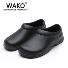 Women man cook Chef work shoes non-slip shoes men's shoes sandals kitchen skid resistance slip-on black size 39-44 gfe9031(China (Mainland))