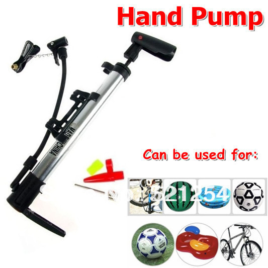 Portable Aluminum Hand Pump Inflator for Bike Bicycle Motorcycle Cars Basketball Free Shiping