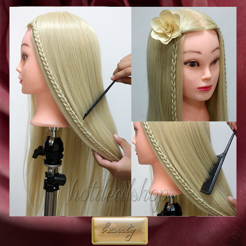 26quot; Long Blonde Hair Professional Styling Head