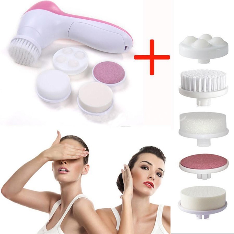 6 in 1 Facial Massager Cleaner Face Skin Care Electric Scrubber SPA Stimulate(China (Mainland))