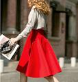 Médio Ocasional Na Altura Do Joelho-comprimento Saias das mulheres Retro Elegante Feminino Cintura Alta vestido de Baile Saias Femininas Das Mulheres Do Vintage Longo saia