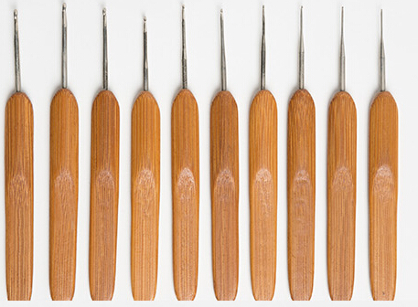 Bamboo needle stainless steel sweater set knitted tools needle Aluminum Crochet Hooks Weave Stitches Craft Case Weaving tools t8(China (Mainland))