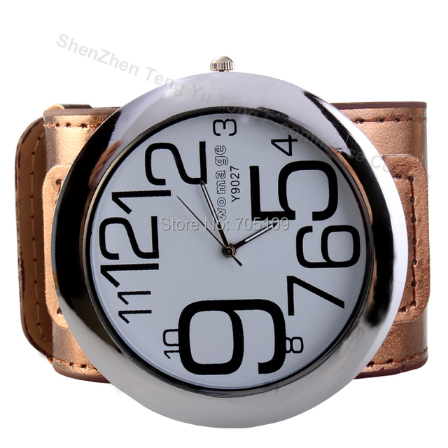 New Special Fashionable Women Dress Watches, Super Big Dial Fashion Quartz Watch Exaggerated Large Numbers Ladies Wristwatch