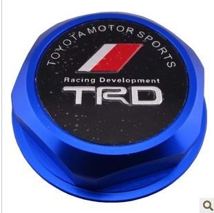 TRD Billet Aluminum Engine Oil Filler Cap Fuel Fill Tank Cover JDM BLUE B03(China (Mainland))