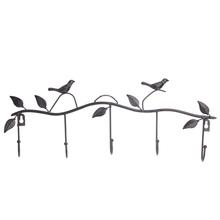 Classic 5 Hooks Home Coat/Hat/Bag Vintage Bird Style Hanger Decor Wall  #71553(China (Mainland))