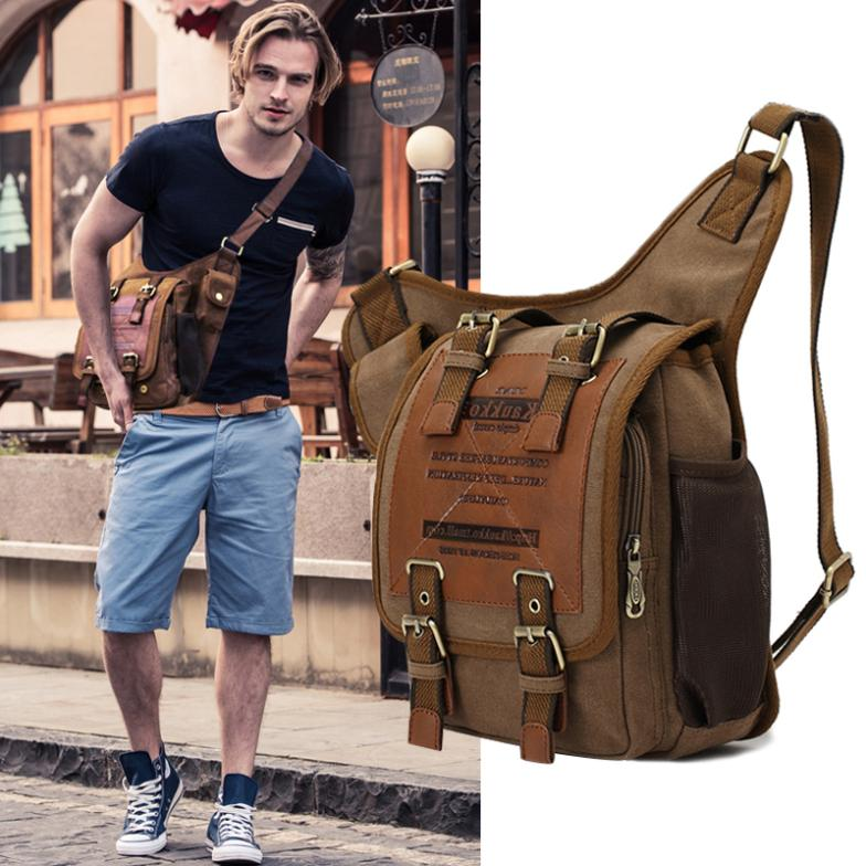 Men's Shoulder Messenger Multiple Travel Casual Backpack