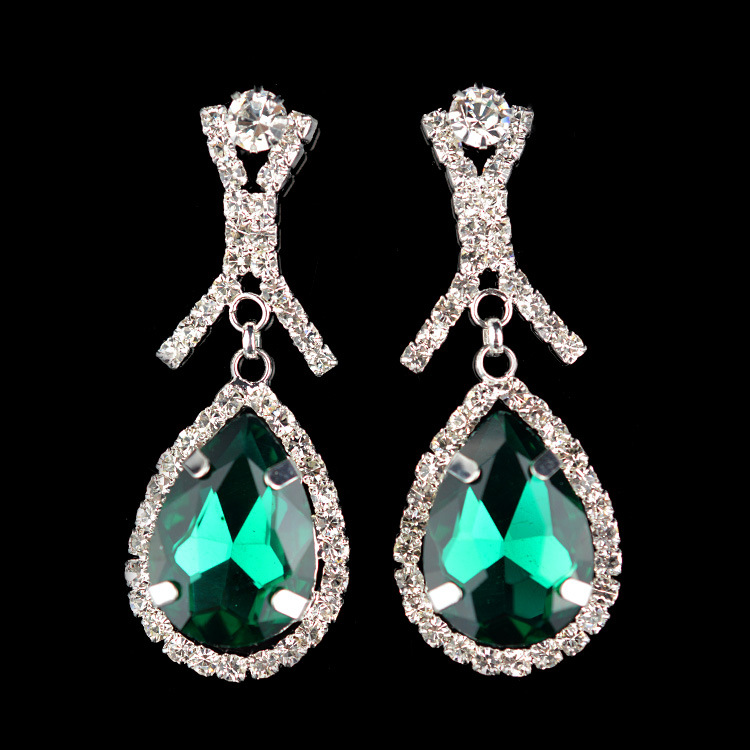 2016 Real New Arrival Water Drop Women Bijoux Ez0028 Water High-grade Crystal Chaton Earrings Jewelry Wholesale Agency(China (Mainland))