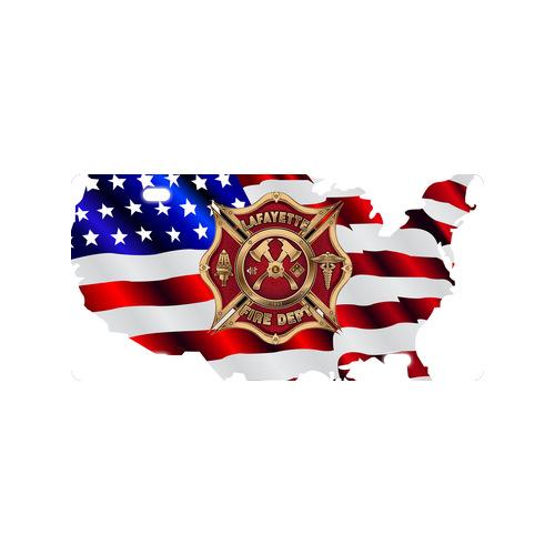 nice personalized cool volunteer firefighter logo metal