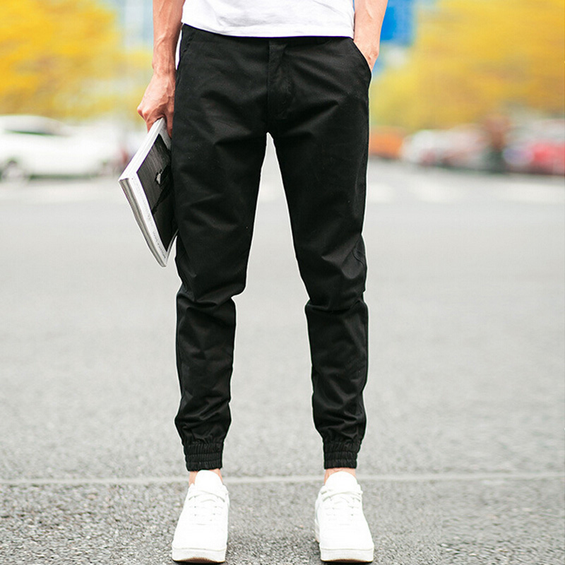 pantalon homme design male trousers men jogger casual pants feet straight beams thin pants. Black Bedroom Furniture Sets. Home Design Ideas