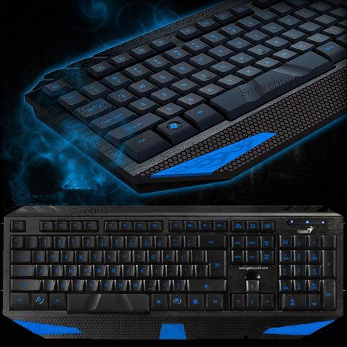 Blue LED Illuminated Backlight Backlit Light Up USB Professional Gaming Keyboard(China (Mainland))