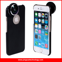 Detachable Screw-in More Advanced Super Fish Eye Lens 235 Degree Lens with Back Cover Case for iPhone 6/6S