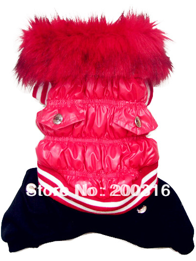 Retail New Red Bubble Down winter coat for dog Free shipping dogs winter coat