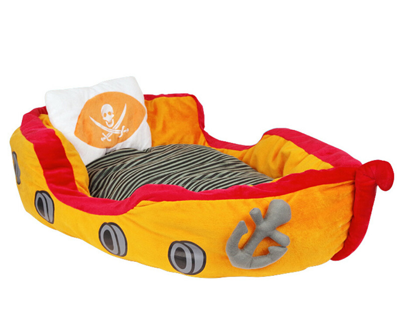 Newest Pirate ship design kennel Pet Waterloo Dog and Cat Bed soft material Warm Mat detachable Cotton Pet Animal House CW-80025(China (Mainland))