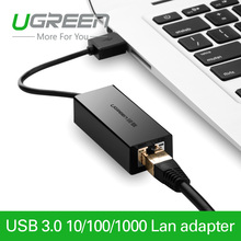 Ugreen USB Ethernet 10/100/1000 Mbps Rj45 Gigabit Network Card Lan Adapter For Mac OS Android Tablet pc Laptop Smart TV Win 7 8(China (Mainland))
