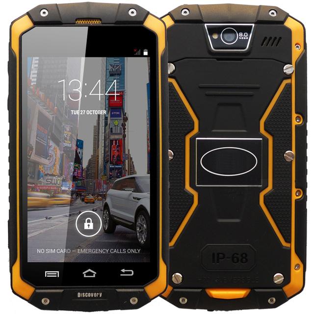 В наличии открытие V9 Android 4.4 MTK6572 двухъядерный 4.5 дюймов 3 г смартфон IP68 водонепроницаемый противоударный две сим-карты мобильного телефона
