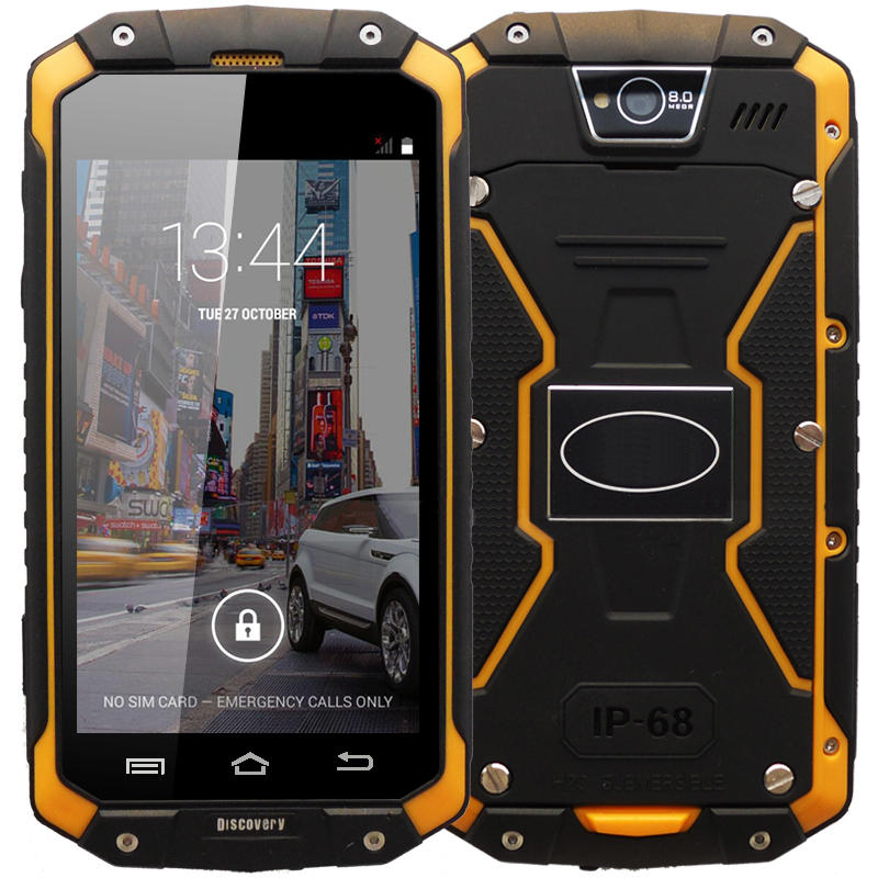 In stock Discovery V9 Android 4.4 MTK6572 Dual Core 4.5 inch 3G Smartphone IP68 Waterproof Shockproof Dual SIM card Mobile phone(China (Mainland))