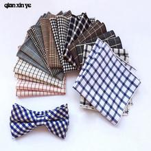 paisley mens fashion tie handkerchief Wedding men pocket square plaid stripes hanky scarf FJ050