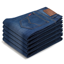 Summer lightweight men jeans new style straight solid casual long pants simple fashion slim comfortable high-grade male trousers