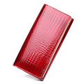 Red Wallet Women Genuine Leather Wallet Women Wallets Hasp Fashion Ladies Purse Red Black 2017 New