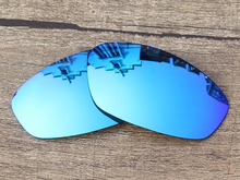 Polycarbonate-Ice Blue Mirror Replacement Lenses For Whisker Sunglasses Frame 100% UVA & UVB Protection