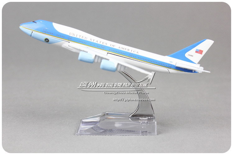 16cm 1:400 Alloy Air United States Of America Airforce Airlines Boeing B747 200 Airways Plane Model Airplane Model Toy Gift(China (Mainland))