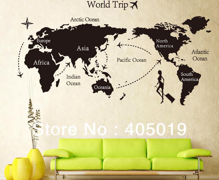 Map of world black and white world map wallpaper atlas wall murals world map for wall mural gumiabroncs Image collections