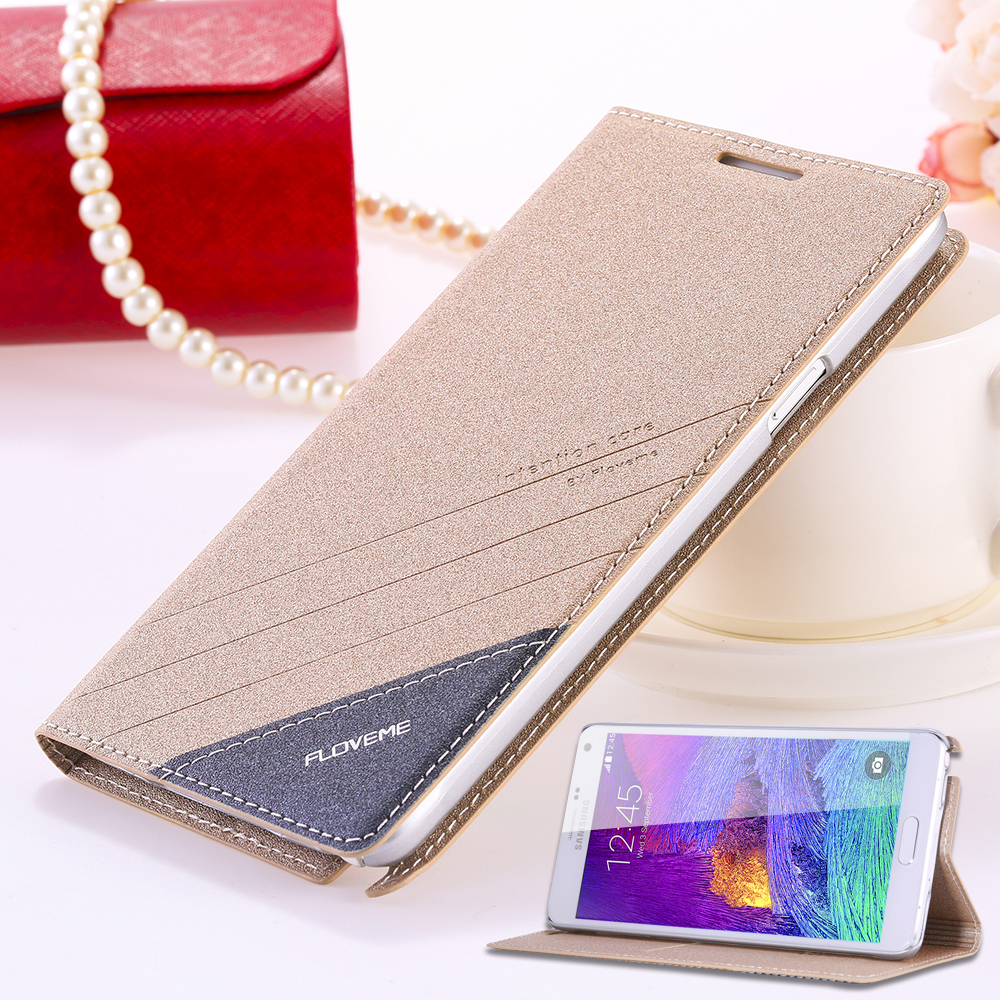 For Galaxy Note 4 Original Brand Case Fashion Ultra Flip Leather Phone Case For Samsung Galaxy