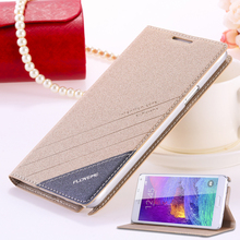 For Galaxy Note 4 /5 Original Brand Cover Fashion Ultra Flip Leather Phone Case For Samsung Galaxy Note 4 Note 5 With Card Slots(China (Mainland))